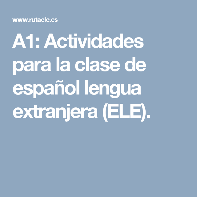 clases de español para extranjeros material pdf