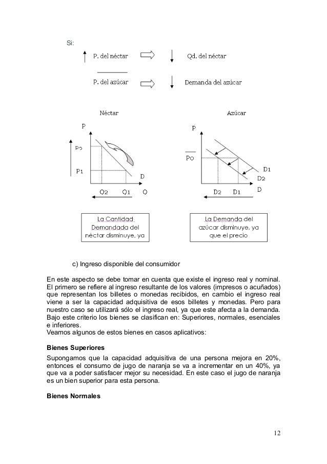 bienes normales inferiores sustitutos y complementarios pdf