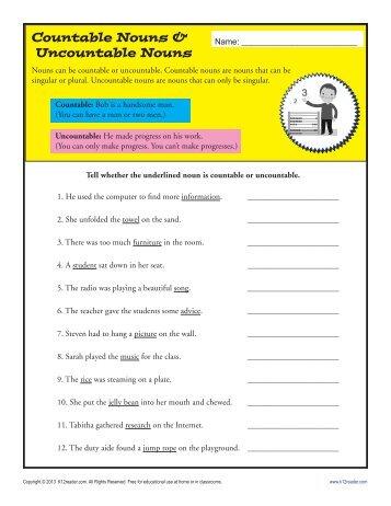 countable or uncountable noun pdf