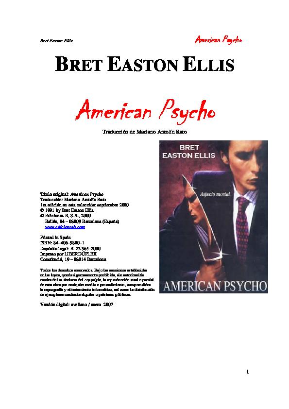 american psycho capitulo 1 pdf