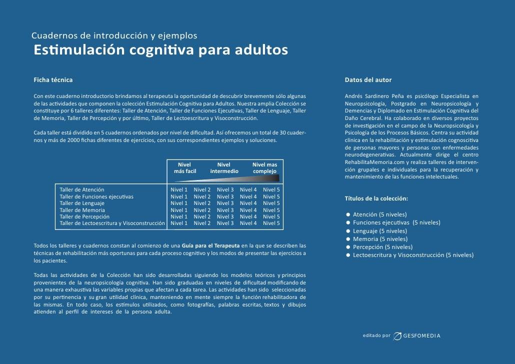 cuadernos de estimulacion cognitiva para adultos pdf