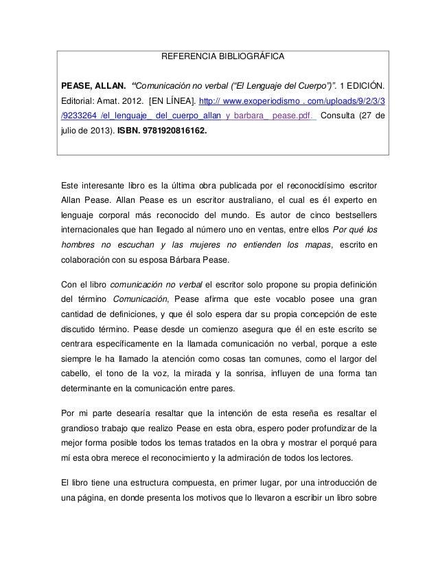 comunicacion no verbal libro pdf allan