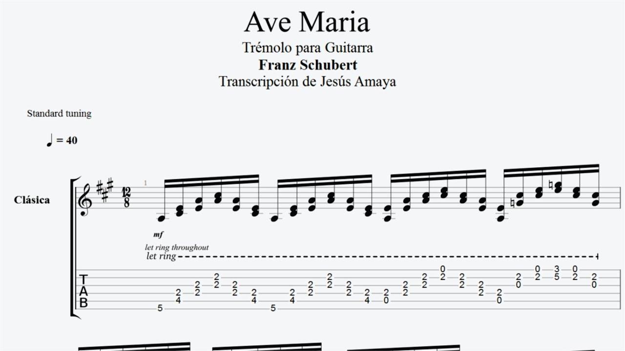 ave maria franz schubert partitura guitarra pdf