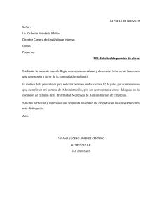 carta de solicitud cierre de calle