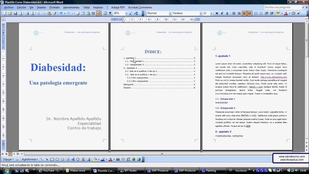 crear un indice en un pdf