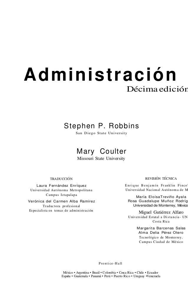 administracion robbins coulter 10 edicion pdf descargar gratis