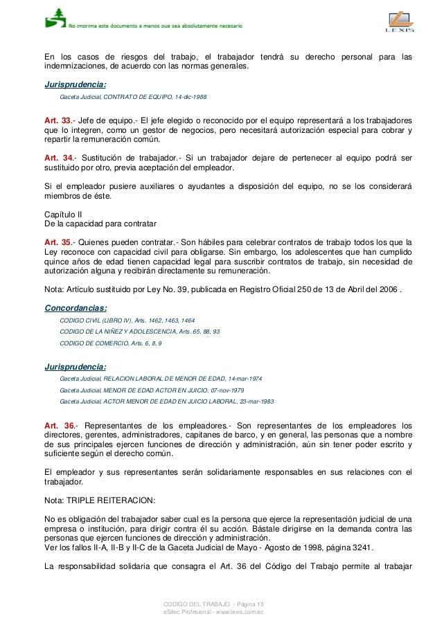 codigo del trabajo art 171 pdf