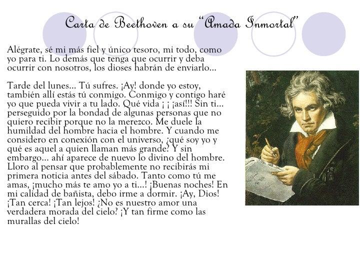 carta de beethoven a su amada inmortal pdf