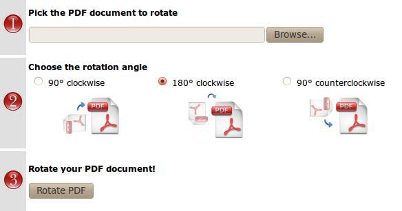 como girar la hoja en pdf