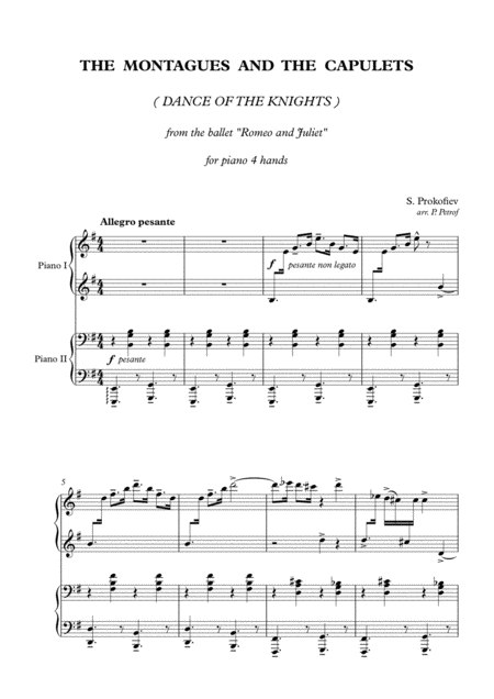 dance of the knights piano pdf