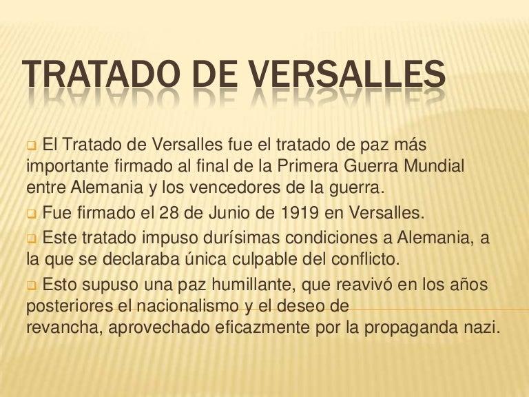 condiciones del tratado de versalles