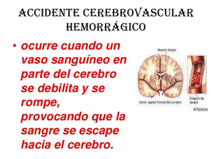 accidente cerebro vascular hemorrágico manifestaciones clínicas pdf