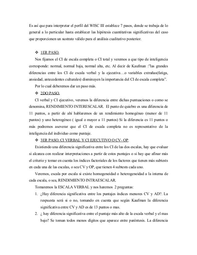 analisis cualitativo wisc iii por subpruebas pdf