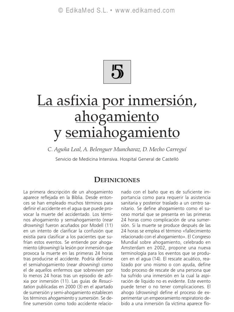 asfixia por inmersion primeros auxilios pdf