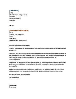 carta de oferta para vendedor pdf