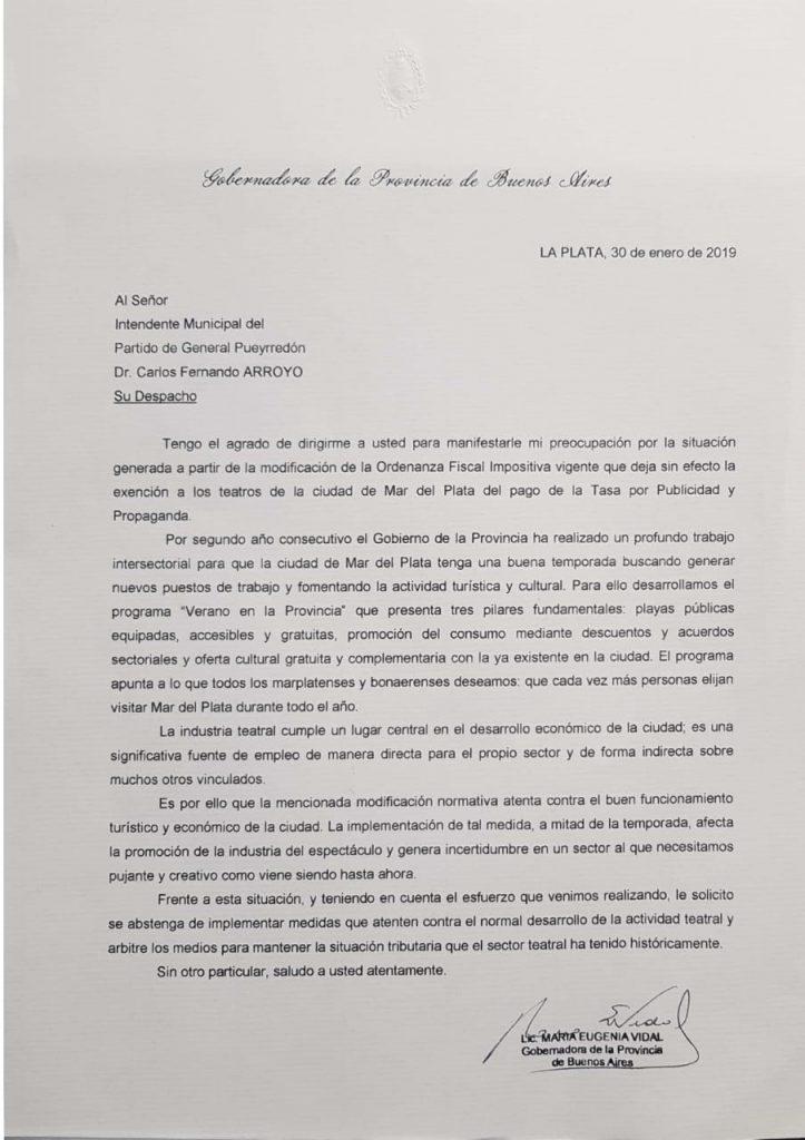 carta de solicitud a la gobernadora de cachapoal