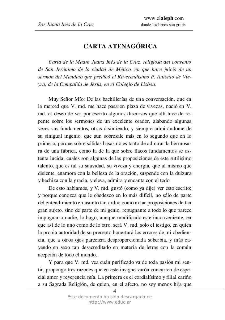 carta de sor filotea de la cruz pdf