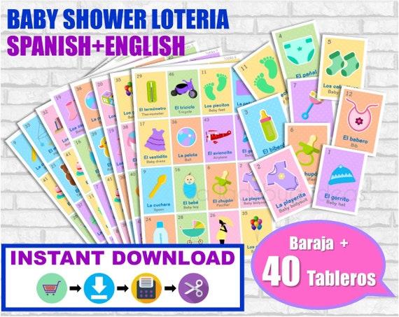 bingo baby shower para imprimir pdf