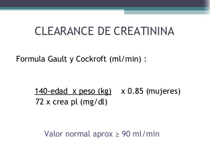 clearance de creatinina formula pdf