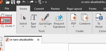 como editar texto en pdf nitro