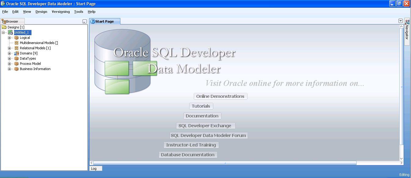 como generar diccionario de datos en data modeler