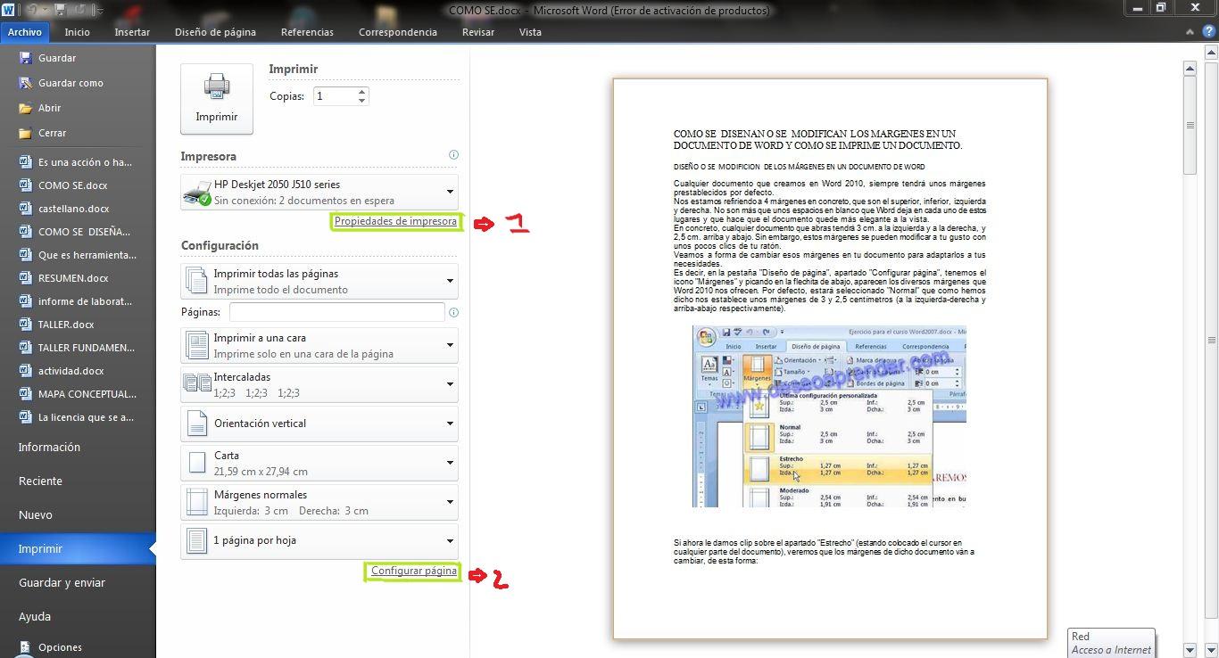 como modificar margenes de impresion en pdf