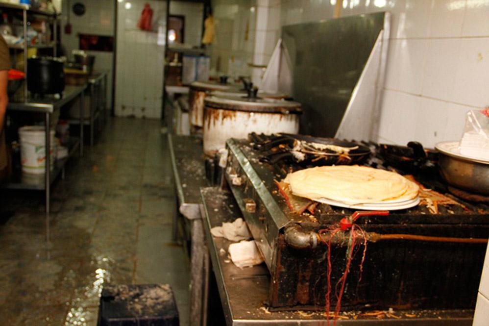 condiciones inseguras en una cocina