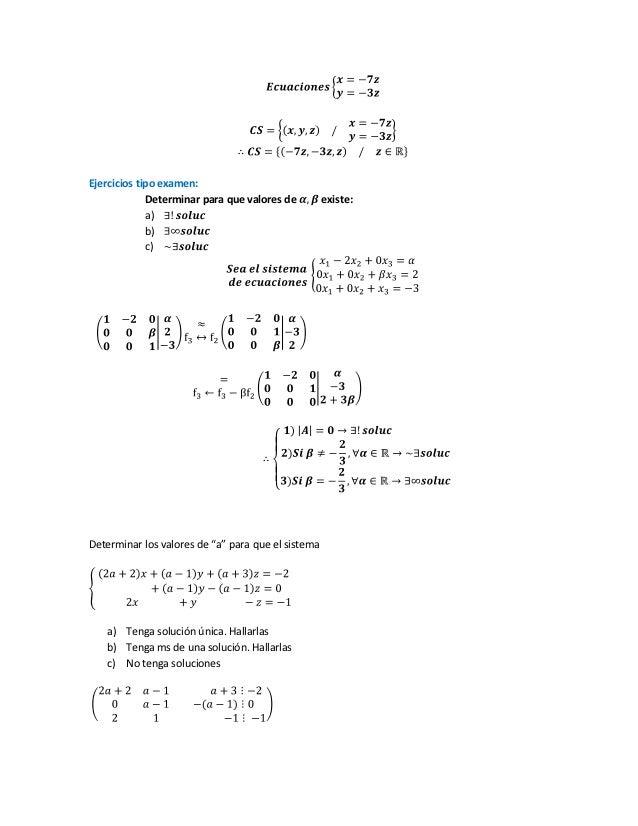 condiciones para que una matriz tenga solucion