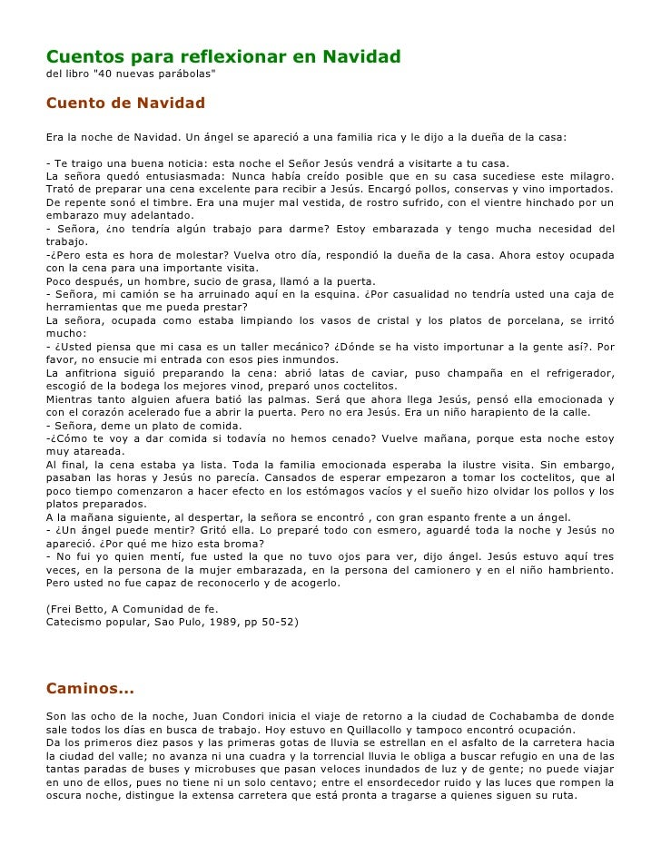 cuentos cristianos para reflexionar pdf