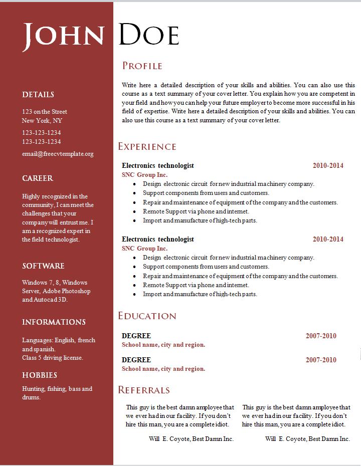 curriculum vitae profesor lenguaje santiago pdf
