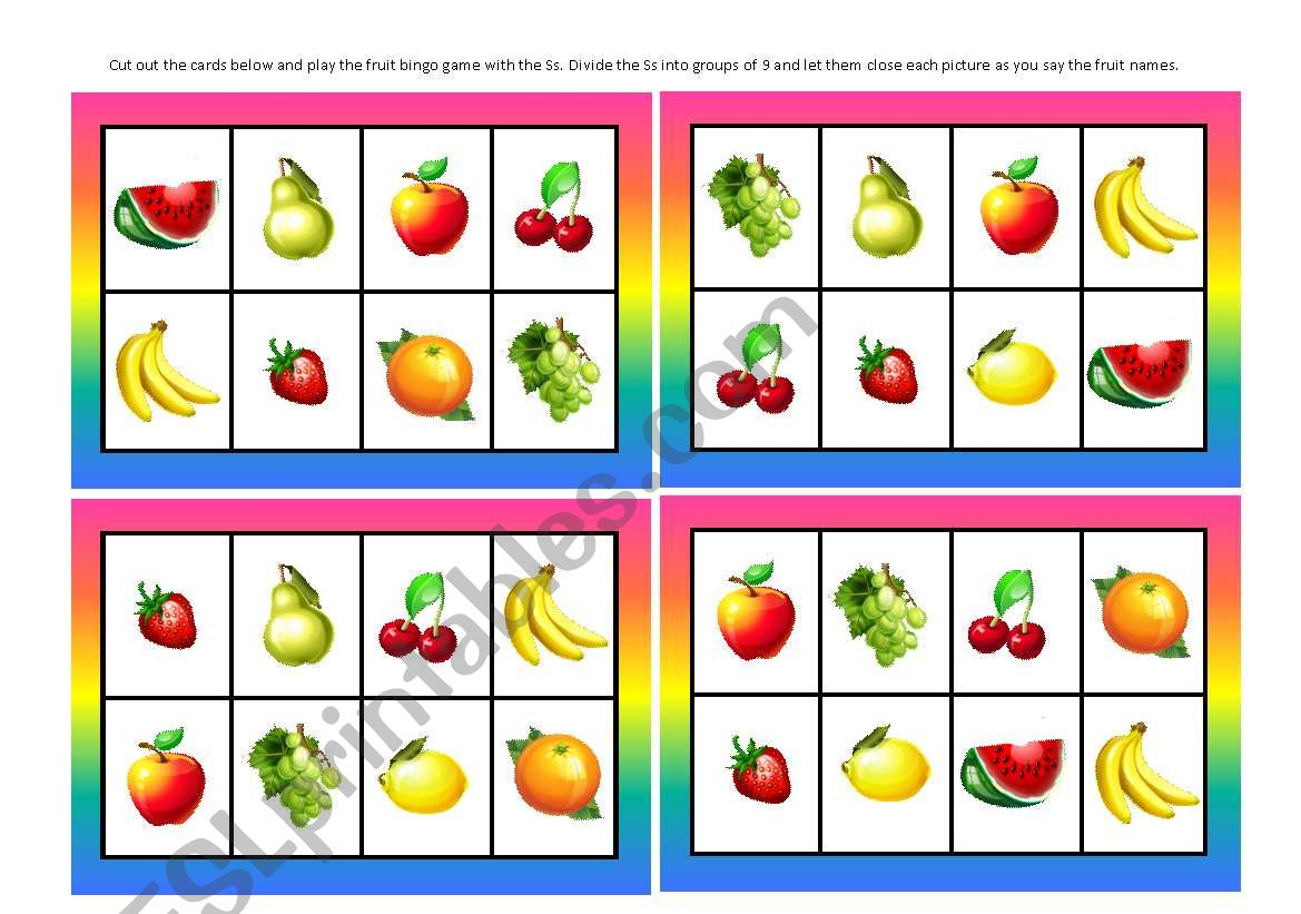 a an fruit exercises pdf