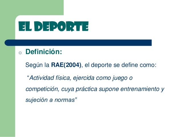 definicion deporte segun autores pdf