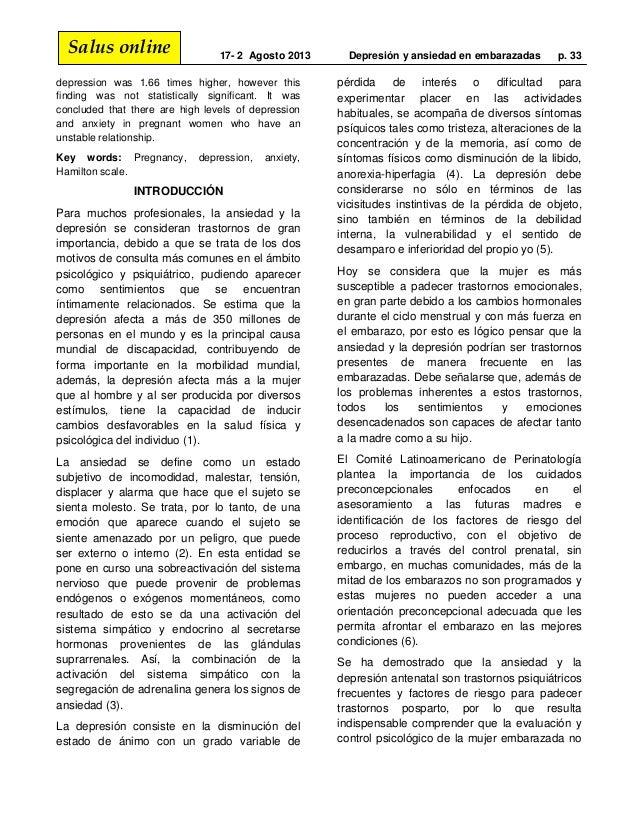 depresion y ansiedad en embarazadas pdf