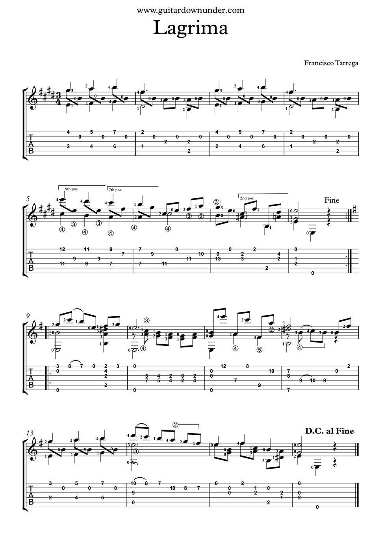asturias guitarra clasica partitura pdf