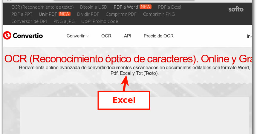 conversion exacta pdf a excel